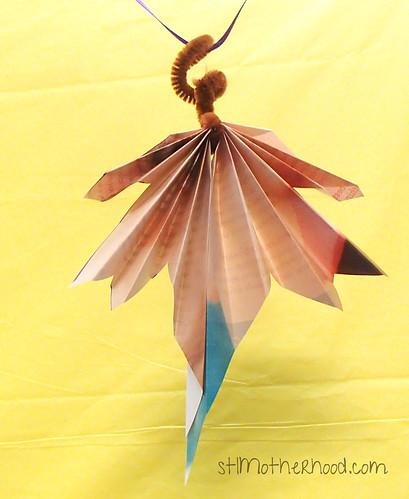 paper folded leaves