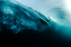 Surfing from Below (coastalcreature) Tags: ocean hawaii flickr surf surfer surfing carve shore northshore surfboard underworld breakingwave