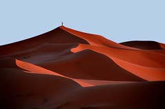 on the top (s@brina) Tags: travel light man sahara fire shadows desert earth dunes air elements marocco