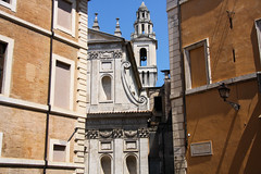 Behind the scenes (matteococco) Tags: city light summer italy rome roma church architecture buildings italia estate scene chiesa hidden cielo architettura luce citt edifici finestre scenografia nascosta cieloromano
