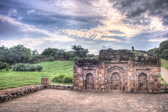 What is the Weather like today ? (Kapil_S) Tags: old color green monument nature colors clouds ruins delhi historic monsoon noon drama hdr qutub darkclouds newdelhi qutubminar mughal qutubcomplex highdynamic