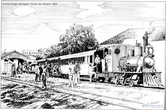 Porto Alegre Estação férrea do Riacho 1900