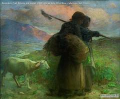 Romualdo Prati Ritorno dai campi (1900) olio su tela 191x230cm Collezione Sait Trento