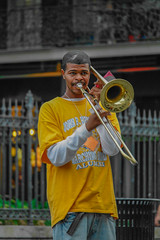 march to my tune (mduckitt) Tags: street vacation music holiday tourism public musicians square louisiana performance jazz jackson enjoy frenchquarter nola spectators stlouiscathedral exuberant