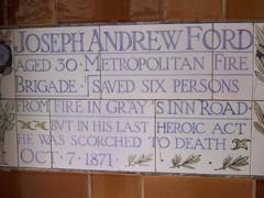 Joseph Andrew Ford - Memorial to Heroic Self Sacrifice (sarflondondunc) Tags: london postmanspark littlebritain cityoflondon stmartinslegrand metropolitanfirebrigade memorialtoheroicselfsacrifice