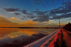2013-02-02 19-08_04 (J Rutkiewicz) Tags: clouds chmury reflectio zachódsłońca