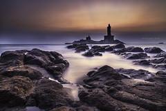 Thiruvalluvar Statue - Kanyakumari (rafimmedia Photography) Tags: longexposure kanyakumari ppc thiruvalluvar   rafimmediaphotography pondicherryphotographyclub vision:sunset=083 vision:mountain=0566 vision:sky=0941 vision:ocean=0938 vision:clouds=0886 vision:outdoor=0961