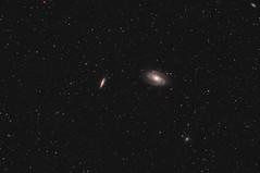 M81 & M82 - Bode's & Cigar galaxy (ShoulderOps) Tags: light eos major space deep cigar astro telescope filter galaxy nebula pollution goto pro modified service astronomy planetary galaxies supernova phd ts ursa cls guiding teleskop cs3 quadruplet m82 m81 apochromatic bodes ngc2976 ngc3077 pixinsight 1100d astronomik qhy5 neq6 65q tsapo65q shoulderops sn2014j