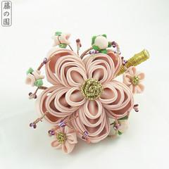 Kisetbusana - Senior Maiko Ume (Wisteria Gardens) Tags: flower kyoto silk plum maiko geiko hana geisha february ume tsumami kanzashi {vision}:{outdoor}=0797 {vision}:{food}=0657