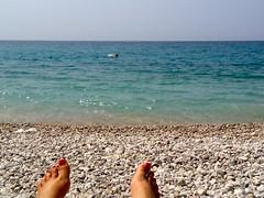 Voetjes en zee