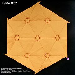 recto1237 (LydiaDiard paperfolledingue) Tags: art geometric paper 3d origami hexagon papier tessellation tesselation paperfolding volume volum tant lydiard gomtrique pliage hexagone paperfold pliagedepapier lydiadiard paperfolledingue