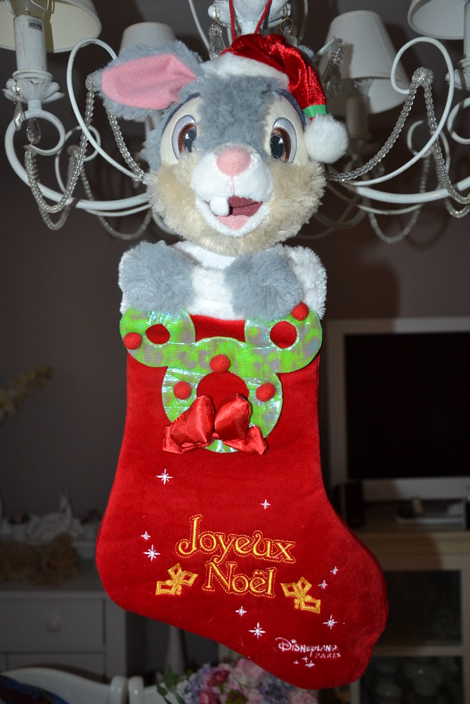 christmas stocking thumper girly toys tags bambi disney panpan thumper fleur flower biche - Chaussette De Noel Disney