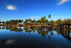 DSC_1107 (Nasey) Tags: sky reflection digital river landscape island nikon village bluesky tokina malaysia dslr kampung terengganu marang coconuttrees nasir d80 nasey nasirali tokina1116mm 1116mmf28atx