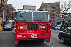 FDNY Tower Ladder 45 (Triborough) Tags: nyc newyorkcity ny newyork tower manhattan firetruck fireengine ladder fdny washingtonheights seagrave newyorkcounty towerladder newyorkcityfiredepartment ladder45 aerialscope towerladder45