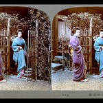 TWO GEISHA MEETING AT THE GATE thumbnail