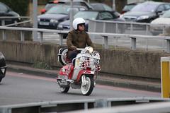Lambretta TV (kenjonbro) Tags: uk red england white london tv mod blackheath scooter lambretta a2 a102 parka dualcarriageway se3 blackwalltunnel worldcars kenjonbro canoneos5dmkiii canonzoomlensef70300mm1456isusm bornagainbikers