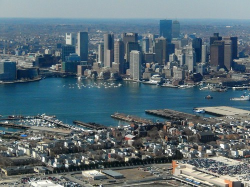 View of Boston from Jet Blue Airplane at by slgckgc, on Flickr