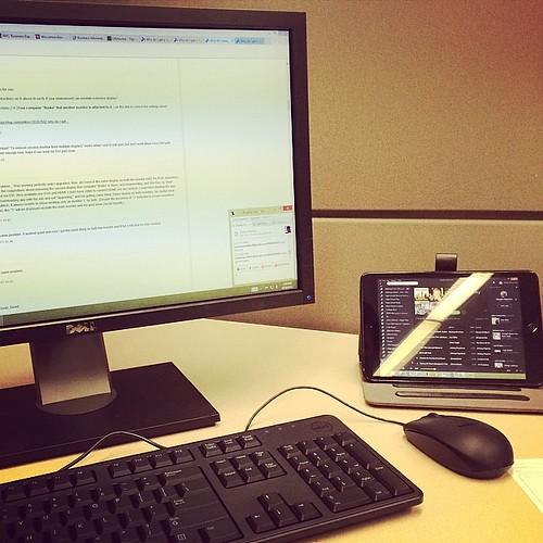 Tired of waiting for my dual monitors so I setup my iPad.  #ipadFTW