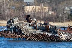 Matchstick ships (TugSailor) Tags: abandoned marine maritime tug kills derelict boneyard wrecks newyorkharbor arthurkill libertyservice