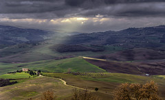 The little house (Fil.ippo) Tags: light panorama house rural landscape nikon country hill tuscany pienza toscana valdorcia filippo paesaggio d7000 filippobianchi
