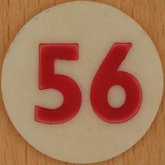 Bingo Number 56 (Leo Reynolds) Tags: xleol30x squaredcircle number numberbingo xsquarex bingo lotto loto houseyhousey housey housie housiehousie numberset 56 sqset120 50s canon eos 40d xx2015xx xxtensxx sqset