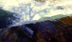 Cascada con siluetas (alfonsocarlospalencia) Tags: cascada siluetas eresma río segovia los molinos verdín dibujos reflejos agua naruraleza ruido verde blanco transparencia espuma contrastes capas estruendo lenguaje paterson poesía minimal