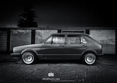 Lee's Golf (1 of 1) (jksphoto1) Tags: blackandwhite mono golf vw volkswagen mk1 mk1golf nikon d610 godox night nighttime 2470 lightpaint lightpainting vwgolf rabbit
