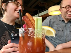 Bloody Mary time with @drinkerthinker and @beep.