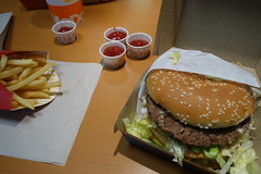 Grand Mac at McDonalds 2-19-17 01 (anothertom) Tags: williamsburgiowa fastfoodrestaurant mcdonalds bigmac grandmac burger food newitem fries ketchup bite 2017 sonyrx100ii