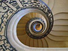 spiraling down in the abbey (mujepa) Tags: escalier colimaçon spirale abbaye prémontrès pontàmousson stairway spiral abbey