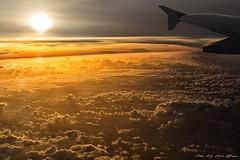 Sunrise above the clouds (Rita Eberle-Wessner) Tags: clouds wolken sonnenaufgang sunrise airplane flugzeug wing flügel sonne sun orange morning morgen flight flug cloudsstormssunsetssunrises airplanewindow