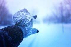 snow day III (magic-spelldust) Tags: snow nature winter cold seasons hand bokeh magical blue white purple pretty