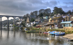 Calstock, Cornwall (Baz Richardson (trying to catch up again!)) Tags: cornwall calstock villages viaducts rivertamar smallboats