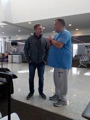 Craig and Drew at the Buffalo Airport (JuneNY) Tags: buffalotojfk new york airports buffalonewyork delta buffalointernationalairport erie county airport