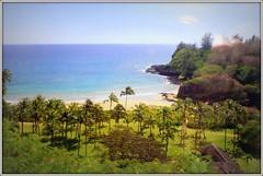 Lawa'i Bay [seen thru bus window] (CatChanel) Tags: allerton mcbride national tropical botanical gardens kauai hawaii lawai bay