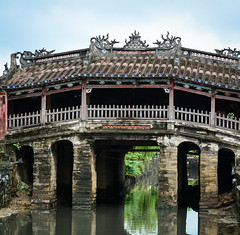 Japanese Bridge Pagoda in Hoi An, Vietnam (phuong.sg@gmail.com) Tags: aged ancient architecture asia attraction beautiful bridge building city construction culture day door element famous heritage history hoian indochina japan japanese landmark landscape old place reflection river riverside roof style tourism town traditional travel unesco vietnam vietnamese wall water window