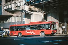 HINO Blue Ribbon II_PDG-KV234Q2_Kyoto230A1683_1 (hans-johnson) Tags: hino blue ribbon blueribbonii blueribbon kv234 jbus utsunomiya princess line hachijo kyoto red light day daylight shadow kinki kansai nihon nippon japan asia asian bus transit transport transportation diesel vehicle vehicles canon eos 5d fullframe 5d3 vsco 5diii 5dm3 70200mm japanese yellow city urban metropolis metropolitan dslr slr lightroom