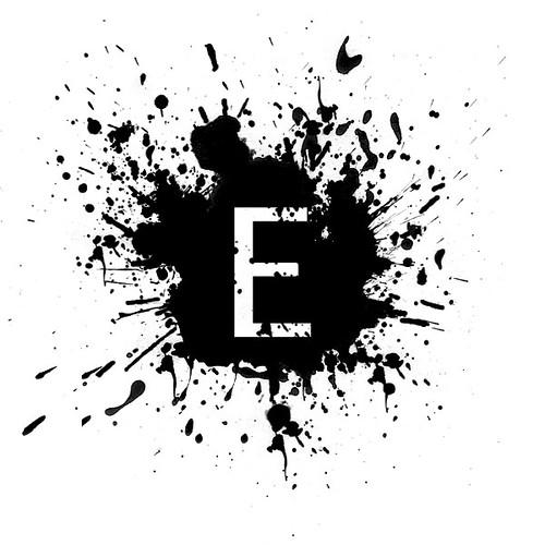 E-black-paint-splatter-icon