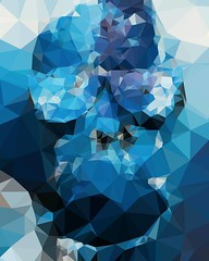 Digital polygons made from a photo of my hand painted mannequin #polygons #art #blue #benheineart #painting #digital #bleu #polygones #glasses (Ben Heine) Tags: benheinephotography photography composition light smartphone nature landscape beauty beautiful photo photographie art ifttt instagram benheine horizon