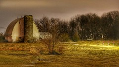 Illuminated Barn (Justin Loyd Photography) Tags: barn rural perry iowa night farm light march flickr photography old canon 6d 24105l ambient natural explore evening