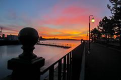 Charlestown Sunrise [Explore Mar 31, 2017] (Bud in Wells, Maine) Tags: boston charlestown sky sunrise harbor fence