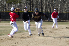 Run-Down Play Scores a Run (brucetopher) Tags: nauset high school varsity highschool baseball ballplayer baseballplayer ballfield baseballdiamond baseballfield diamond bigdiamond practice youth sports sport kidssports youthsport athlete athletes athletic ball field park ballpark summer hot practicemakesperfect player play passtime pasttime game contest