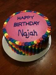 Rainbow Petal Cake by Cristy, RDU, NC, www.birthdaycakes4free.com
