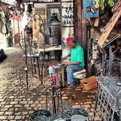 SUK DEI FABBRI (Marco aka MenfiS) Tags: africa marocco marrakech medina suk fabbri iphone ferro artigianato fabbro lavorazione
