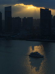Huangpu River View (Aerindad) Tags: sunset shanghai pudong omd