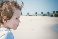 Survey (Wondermonkey2k) Tags: beach water bay toddler head sandy nj