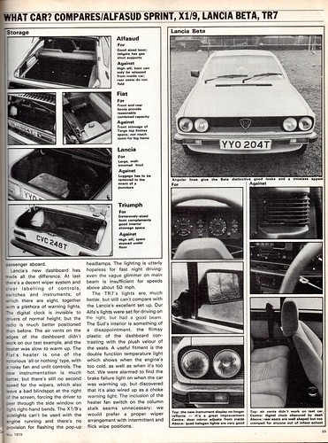 Alfa Romeo Alfasud Sprint Fiat X19 Lancia Beta 16 Coupe