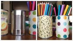 crafting cans (Heather Says) Tags: food house inspiration pencils paper book diy office colorful pretty crafts arts storage cleaning canned colored around cans recycling ideas scrap organization markers crafting organize reusing repurposing scrabook