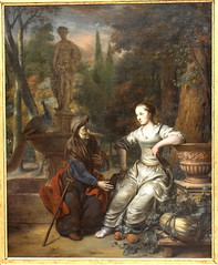 Gerbrandt van den EECKHOUT, Vertumnus and Pomona, 1669 (Ondra Havala) Tags: wood old trip art museum canon painting gallery budapest arts master fina frame pisture 40d eeckhout szepmuveszeti