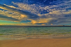 Cloudscape over Beach (George & Maree) Tags: sunrise sunset beach sun cloud coastline wave sky sea nobody morning reflection nature travellocations bodiesofwater horizonoverwater sand outdoors vibrantcolor beaches hdrphotography geomarphotography